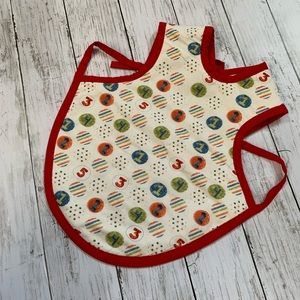 Reversible bibs toddlers tie back apron.
